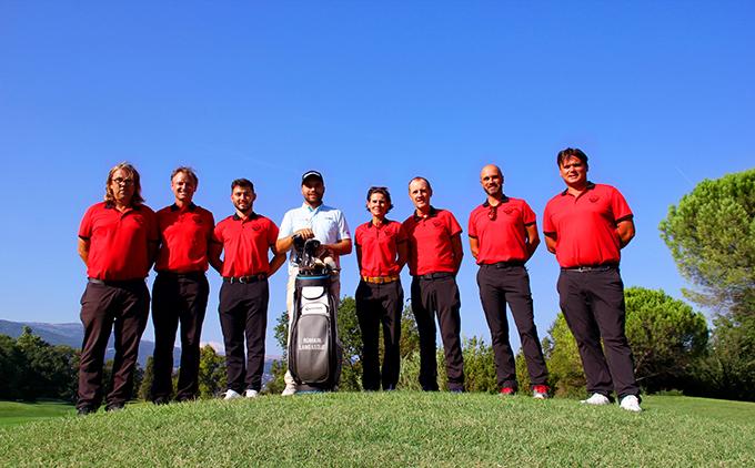 l'Equipe de Pros de l'académie de golf