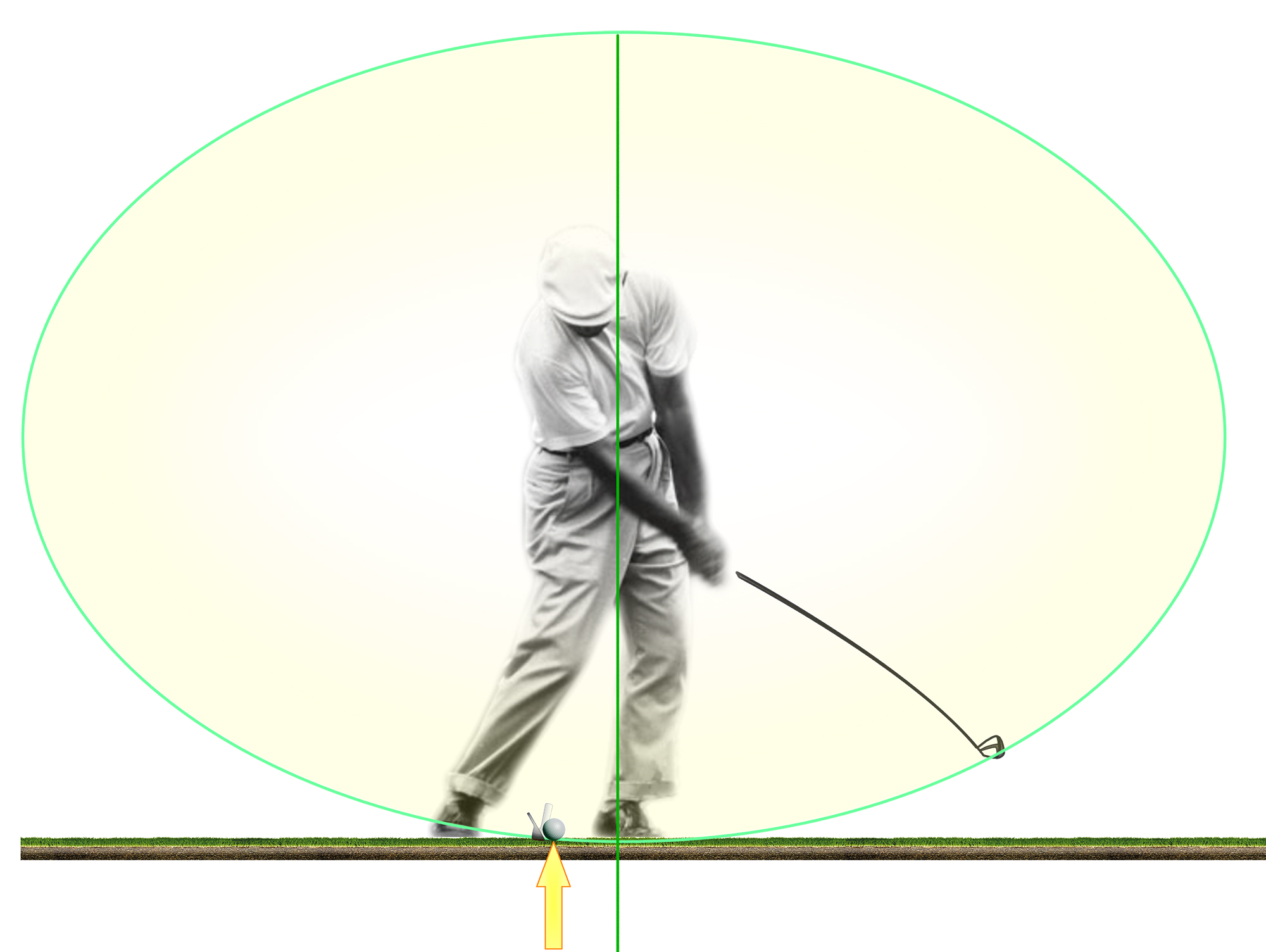 carnet de visualisation : golfeur au fer 9