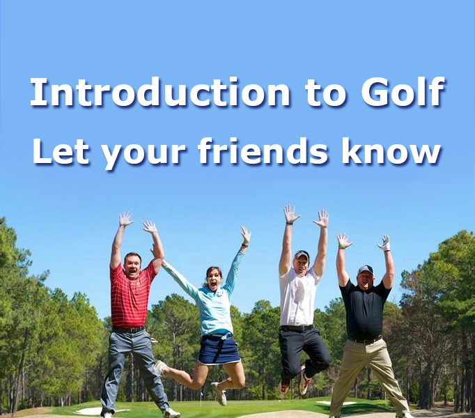 Group lesson in golf introductories