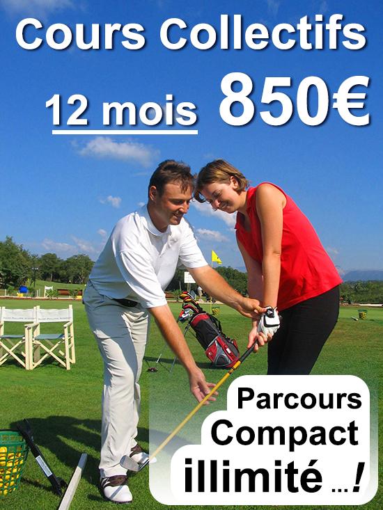 Cours collectifs de découverte et d'initiation au golf