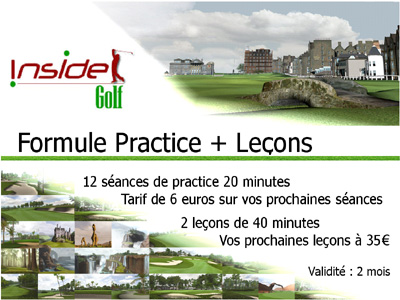 leçons de golf indoor