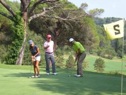 initiation au golf sur le parcours